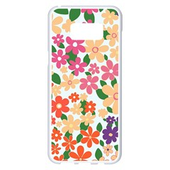 Flower Floral Rainbow Rose Samsung Galaxy S8 Plus White Seamless Case by Mariart