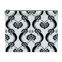 Flower Floral Black Sexy Star Black Cosmetic Bag (xl) by Mariart