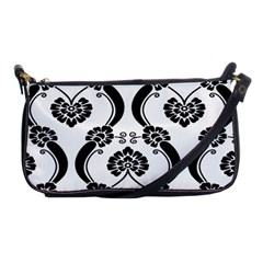 Flower Floral Black Sexy Star Black Shoulder Clutch Bags by Mariart
