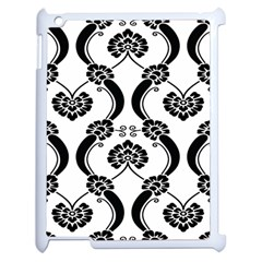 Flower Floral Black Sexy Star Black Apple Ipad 2 Case (white) by Mariart