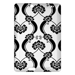 Flower Floral Black Sexy Star Black Amazon Kindle Fire Hd (2013) Hardshell Case by Mariart