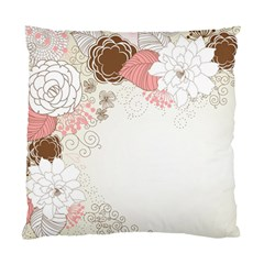 Flower Floral Rose Sunflower Star Sexy Pink Standard Cushion Case (two Sides) by Mariart