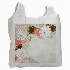 Flower Floral Rose Sunflower Star Sexy Pink Recycle Bag (two Side)  by Mariart