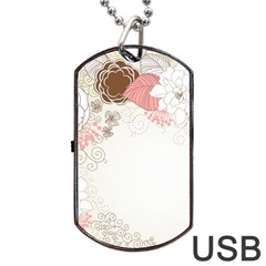 Flower Floral Rose Sunflower Star Sexy Pink Dog Tag Usb Flash (two Sides) by Mariart