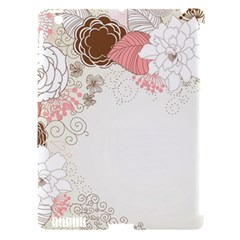 Flower Floral Rose Sunflower Star Sexy Pink Apple Ipad 3/4 Hardshell Case (compatible With Smart Cover) by Mariart