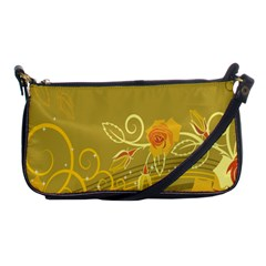 Flower Floral Yellow Sunflower Star Leaf Line Gold Shoulder Clutch Bags by Mariart