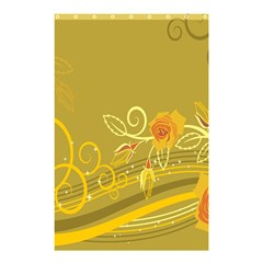 Flower Floral Yellow Sunflower Star Leaf Line Gold Shower Curtain 48  X 72  (small)  by Mariart
