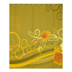 Flower Floral Yellow Sunflower Star Leaf Line Gold Shower Curtain 60  X 72  (medium)  by Mariart
