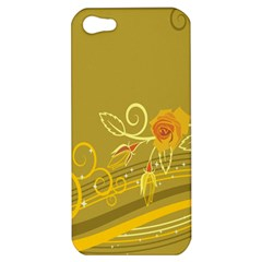Flower Floral Yellow Sunflower Star Leaf Line Gold Apple Iphone 5 Hardshell Case by Mariart