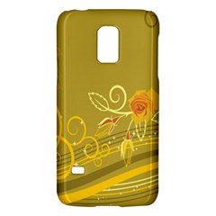 Flower Floral Yellow Sunflower Star Leaf Line Gold Galaxy S5 Mini by Mariart