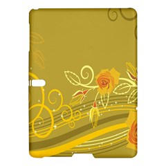 Flower Floral Yellow Sunflower Star Leaf Line Gold Samsung Galaxy Tab S (10 5 ) Hardshell Case  by Mariart