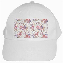 Flower Floral Sunflower Rose Purple Red Star White Cap by Mariart