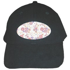 Flower Floral Sunflower Rose Purple Red Star Black Cap by Mariart