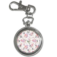 Flower Floral Sunflower Rose Purple Red Star Key Chain Watches by Mariart