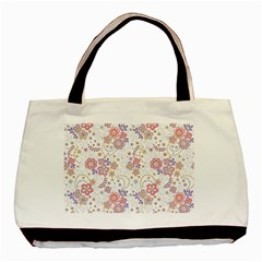 Flower Floral Sunflower Rose Purple Red Star Basic Tote Bag by Mariart