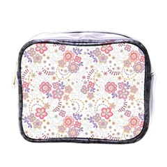 Flower Floral Sunflower Rose Purple Red Star Mini Toiletries Bags by Mariart