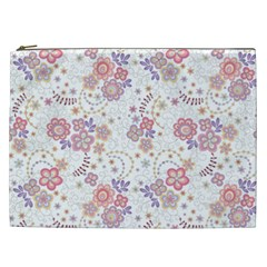 Flower Floral Sunflower Rose Purple Red Star Cosmetic Bag (xxl)  by Mariart