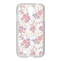 Flower Floral Sunflower Rose Purple Red Star Samsung Galaxy S4 I9500/ I9505 Case (white) by Mariart