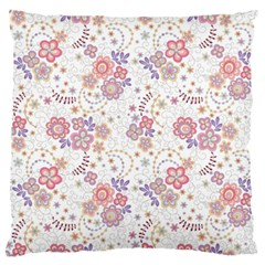 Flower Floral Sunflower Rose Purple Red Star Standard Flano Cushion Case (one Side) by Mariart