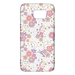 Flower Floral Sunflower Rose Purple Red Star Galaxy S6 by Mariart