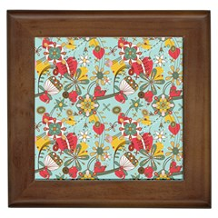 Flower Fruit Star Polka Rainbow Rose Framed Tiles by Mariart