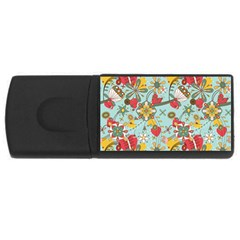 Flower Fruit Star Polka Rainbow Rose Rectangular Usb Flash Drive by Mariart