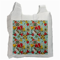 Flower Fruit Star Polka Rainbow Rose Recycle Bag (one Side) by Mariart