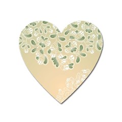 Flower Frame Green Sexy Heart Magnet by Mariart