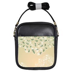 Flower Frame Green Sexy Girls Sling Bags by Mariart