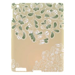 Flower Frame Green Sexy Apple Ipad 3/4 Hardshell Case by Mariart