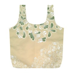 Flower Frame Green Sexy Full Print Recycle Bags (l)  by Mariart