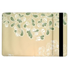 Flower Frame Green Sexy Ipad Air Flip by Mariart