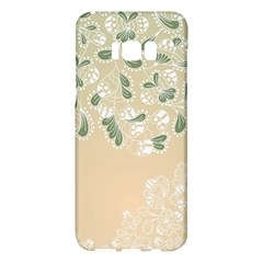 Flower Frame Green Sexy Samsung Galaxy S8 Plus Hardshell Case  by Mariart