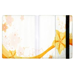 Flower Floral Yellow Sunflower Star Leaf Line Apple Ipad 2 Flip Case by Mariart