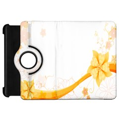 Flower Floral Yellow Sunflower Star Leaf Line Kindle Fire Hd 7  by Mariart
