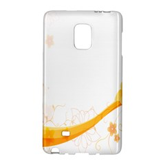 Flower Floral Yellow Sunflower Star Leaf Line Galaxy Note Edge by Mariart