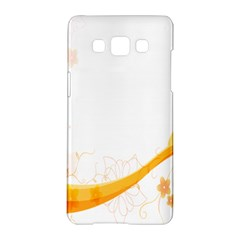 Flower Floral Yellow Sunflower Star Leaf Line Samsung Galaxy A5 Hardshell Case  by Mariart