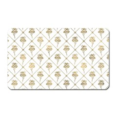 Flower Leaf Gold Magnet (rectangular) by Mariart