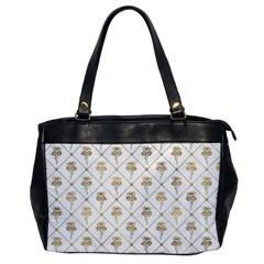 Flower Leaf Gold Office Handbags by Mariart