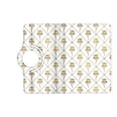 Flower Leaf Gold Kindle Fire Hd (2013) Flip 360 Case by Mariart