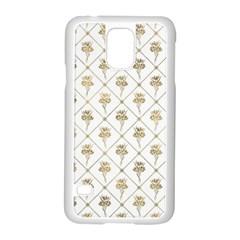 Flower Leaf Gold Samsung Galaxy S5 Case (white) by Mariart