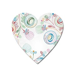 Flower Rainbow Circle Polka Leaf Sexy Heart Magnet by Mariart