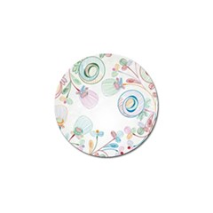 Flower Rainbow Circle Polka Leaf Sexy Golf Ball Marker by Mariart