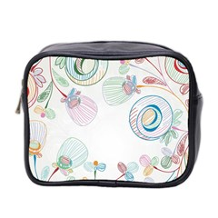 Flower Rainbow Circle Polka Leaf Sexy Mini Toiletries Bag 2 Side by Mariart