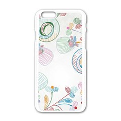 Flower Rainbow Circle Polka Leaf Sexy Apple Iphone 6/6s White Enamel Case by Mariart