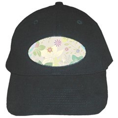 Flower Rainbow Star Floral Sexy Purple Green Yellow White Rose Black Cap by Mariart