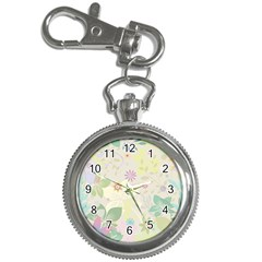Flower Rainbow Star Floral Sexy Purple Green Yellow White Rose Key Chain Watches by Mariart