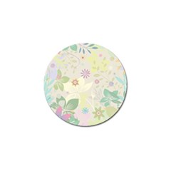Flower Rainbow Star Floral Sexy Purple Green Yellow White Rose Golf Ball Marker (10 Pack) by Mariart