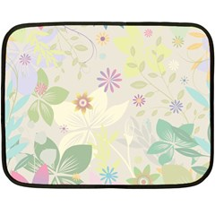 Flower Rainbow Star Floral Sexy Purple Green Yellow White Rose Fleece Blanket (mini) by Mariart
