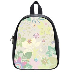 Flower Rainbow Star Floral Sexy Purple Green Yellow White Rose School Bag (small) by Mariart